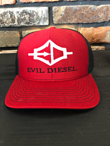 EDI Adjustable Trucker Hat - Red