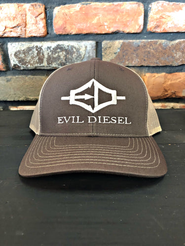 EDI Adjustable Trucker Hat - Brown