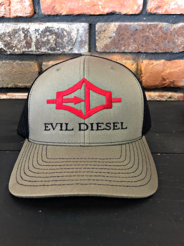 EDI Adjustable Trucker Hat - Khaki