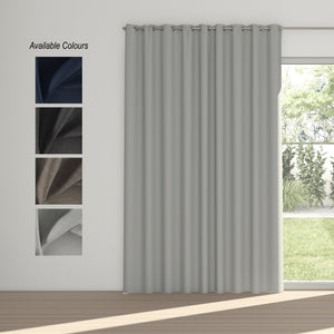 Midnight Eyelet Curtain (100% Blockout)