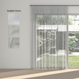 Tranquil Taped Curtain (Unlined Sheer)