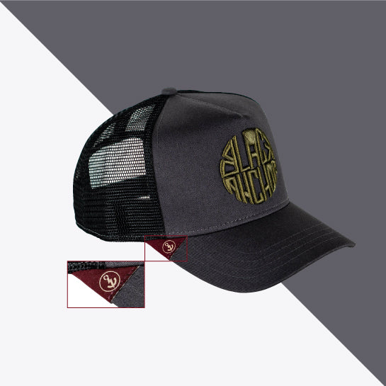 Gorra trucker gris My Black Anchor Black Anchor perfil derecho - Detalle Homepage
