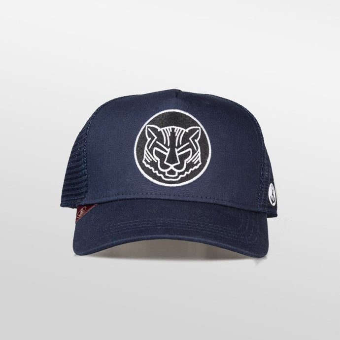 Gorra trucker azul oceanside My Black Anchor Animal tigre frontal