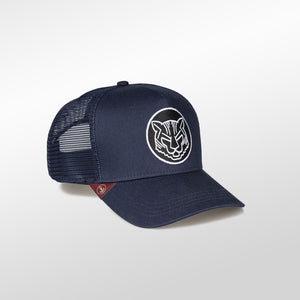 Gorra trucker azul oceanside My Black Anchor Animal tigre derecho