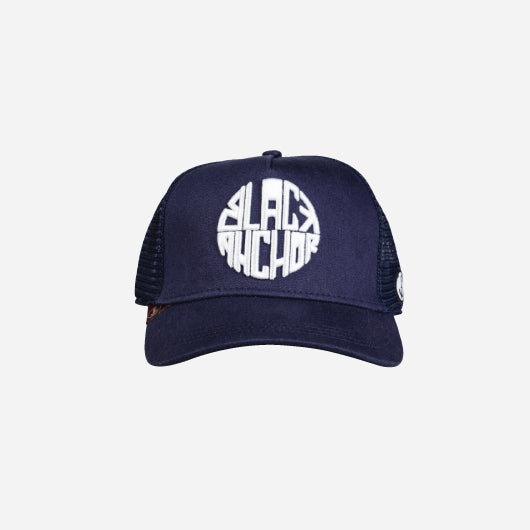 Gorra trucker azul peacoat Black Anchor Black Anchor frontal