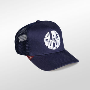 Gorra trucker azul peacoat My Black Anchor Black Anchor perfil derecho