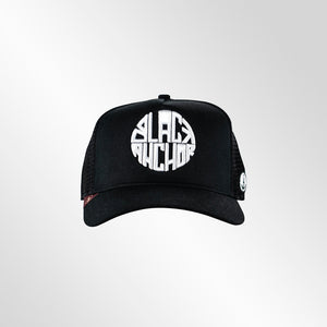 Gorra trucker negra My Black Anchor Black Anchor frontal
