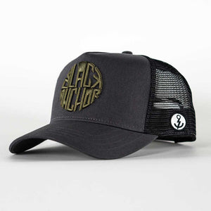 Gorra trucker Black Anchor gris trufa