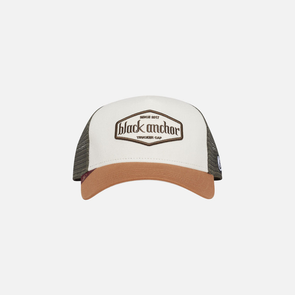 Gorra Trucker Black Anchor Essential Ivory Wheat