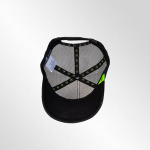 Gorra trucker negra neón My Black Anchor Black Anchor perfil detalle