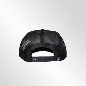 Gorra trucker negra neón My Black Anchor Black Anchor perfil trasero