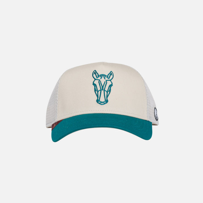 Gorra Trucker Animal Zebra Stone Aqua