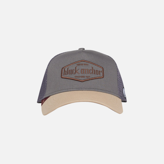 Gorra Trucker Black Anchor Essential Storm Gray Beige