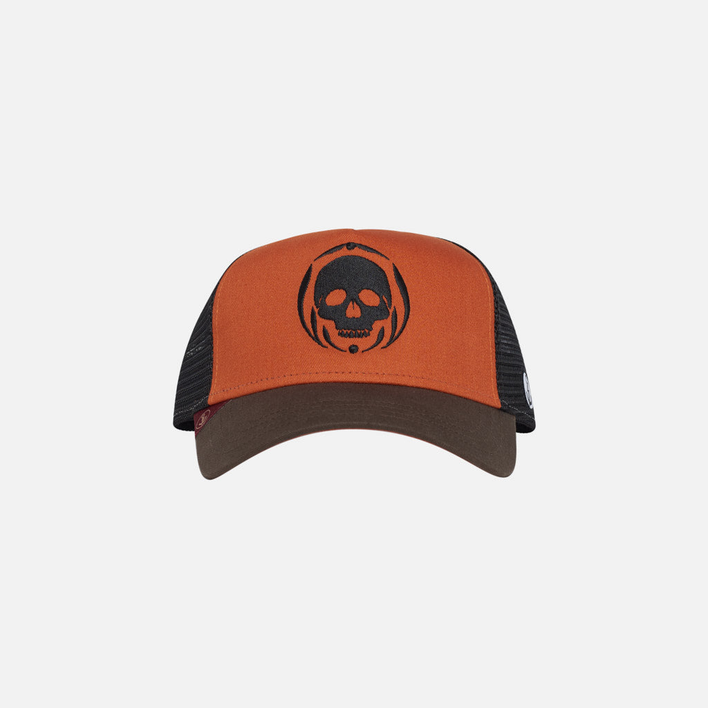 Gorra Trucker Skull v1 Texas Orange Walnut