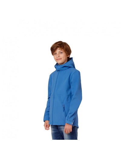 Detská bunda s kapucňou | softshellka | BS64•B&C HOODED SOFTSHELL /KIDS - TopHandry