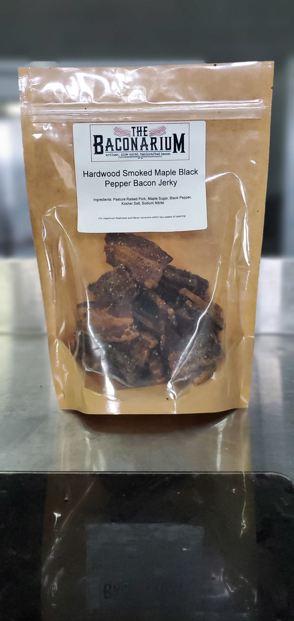Maple Black Pepper Bacon Jerky - The Baconarium
