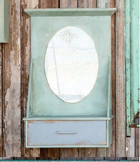 Vanity Cabinet with Oval Mirror