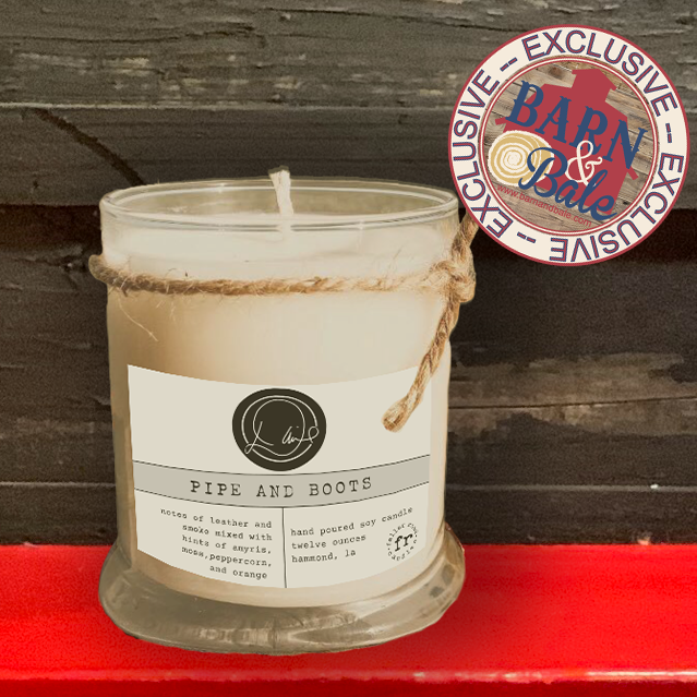 David's Pipe and Boots Signature Candle