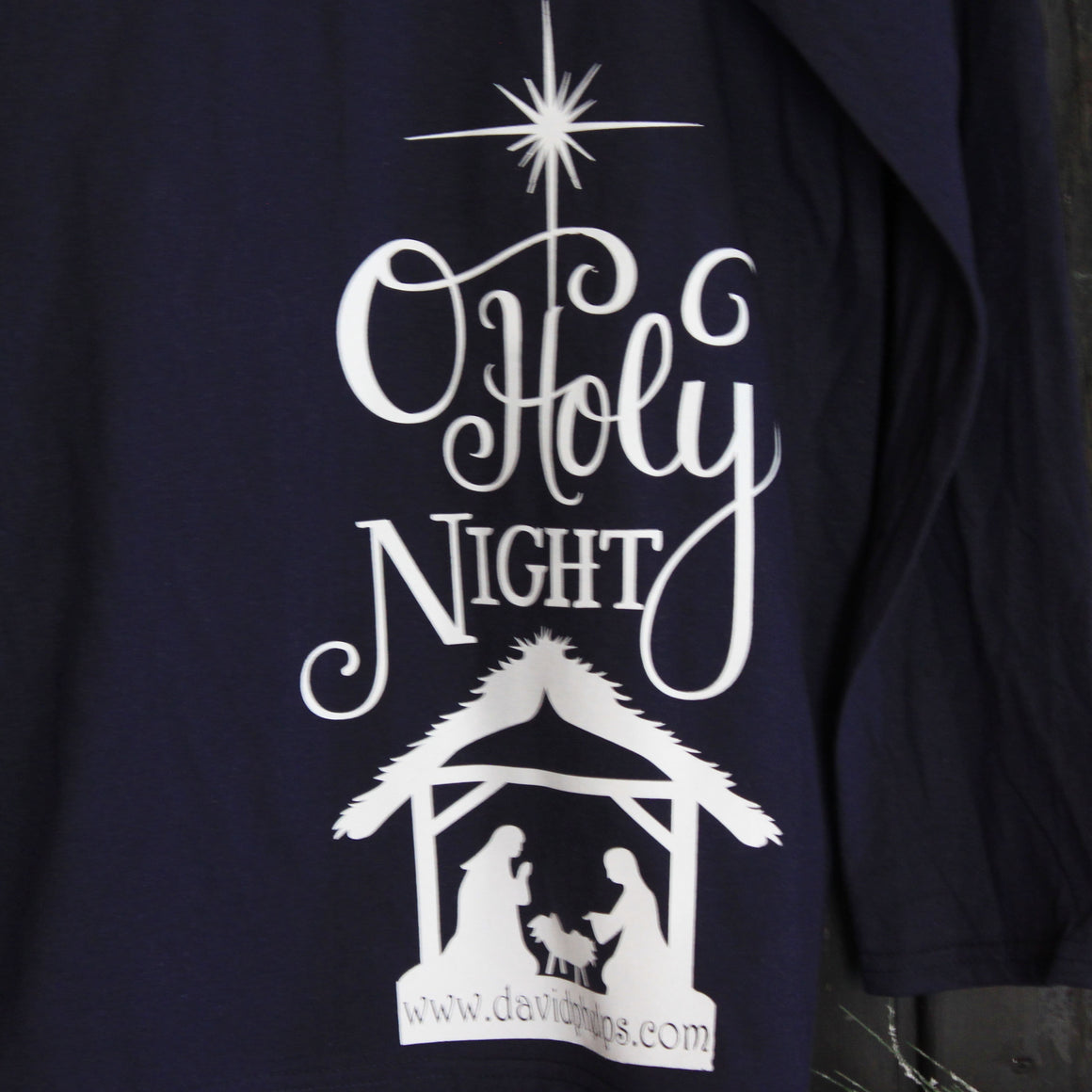 O Holy Night Navy Long Sleeve T