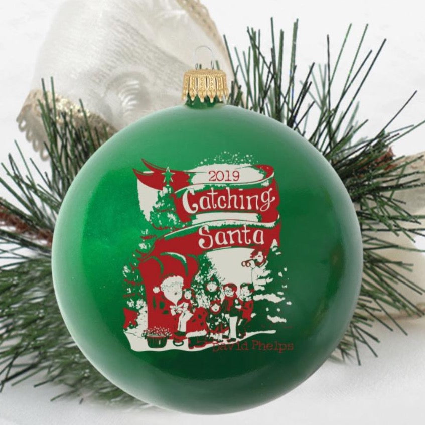 Catching Santa Ornament