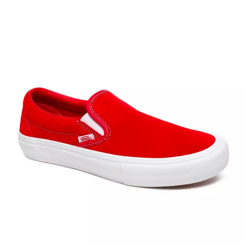 Vans Slip On Pro (Suede) Chaussures Red White