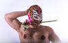 Luchador - Golden Thunderpants - Flower in mouth banner