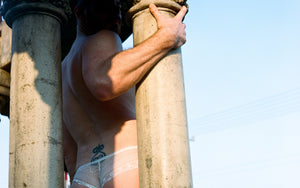 Tristan Ginger - white panties - Photo: Les Huard