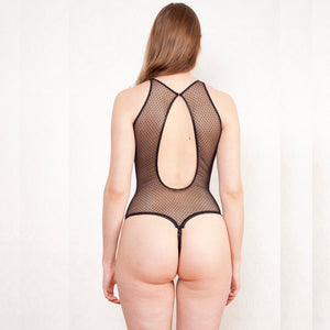 sheer polka dot bodysuit