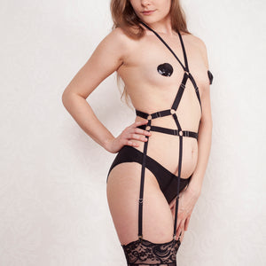 Strappy body harness