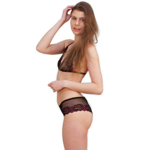 Midnight flower - lace panties