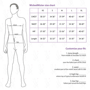 wickedmmm men's size chart