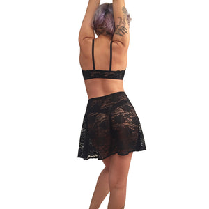 Peek-right-through Lace skirt back