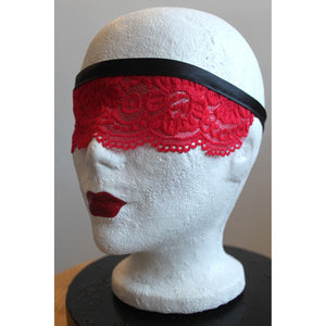 Playful Red Lace Mask