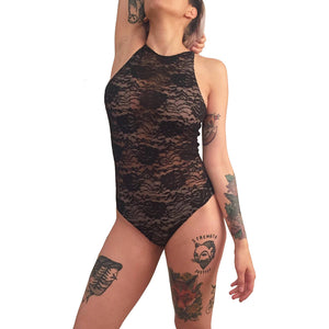 Strategically revealing concealing bodysuit