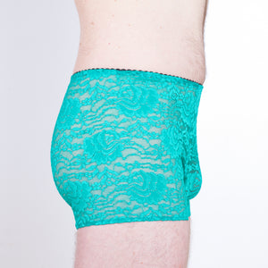 Allover lace trunks
