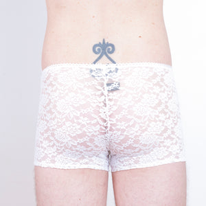 Lace boxer briefs