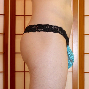 Dream Lace G-string - Aqua