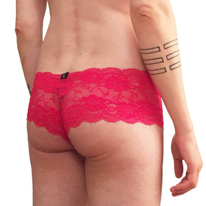 Cherry Blossom trunk style lace hip huggers Red