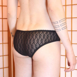 Wicked Mmm Briefs: Black lace