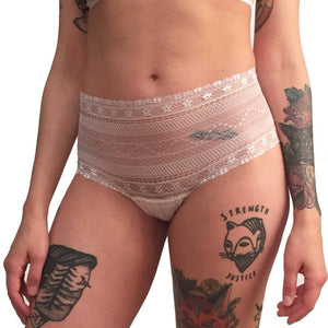 Soft white lace hip huggers for women