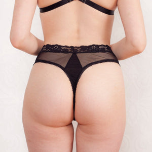 Black Diamond high waist thong