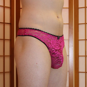 Dream lace cheeky thong - Magenta
