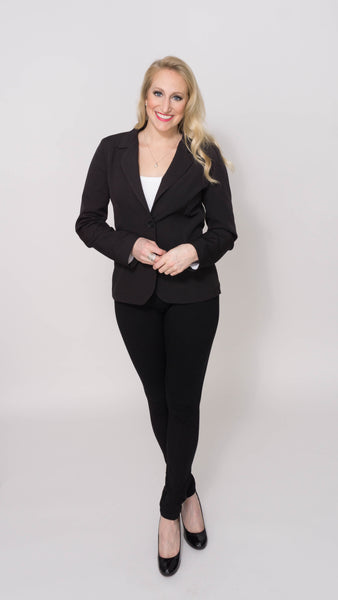 Anita Rose Blazer- Black