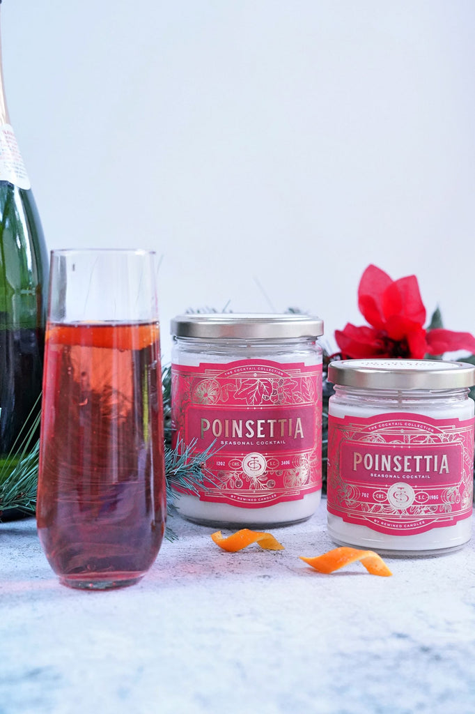 Poinsettia Candle - small