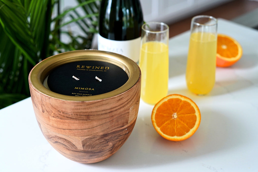 Mimosa Large Bowl Barrel Aged Candle