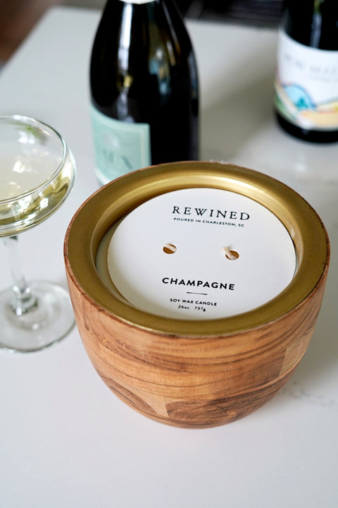 Champagne Large Bowl Barrel Aged Candle