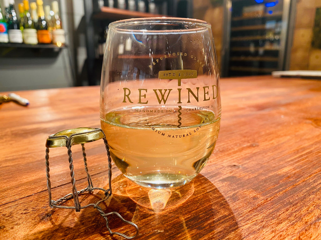 Rewined wine glasses