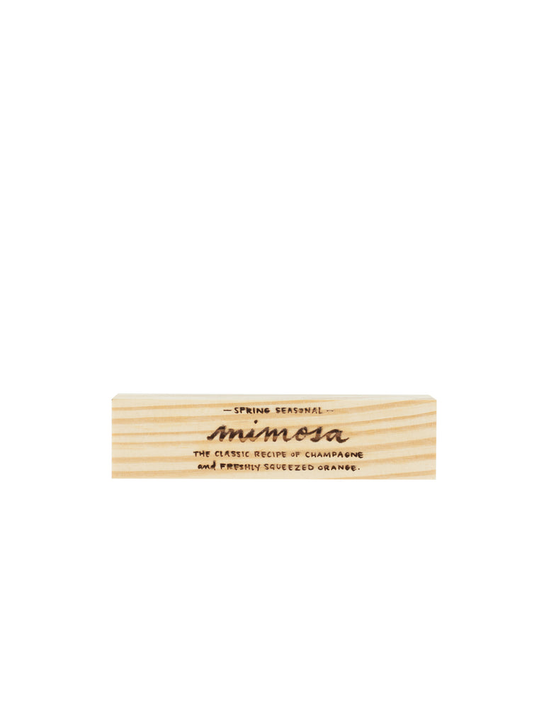 Engraved Mimosa Block