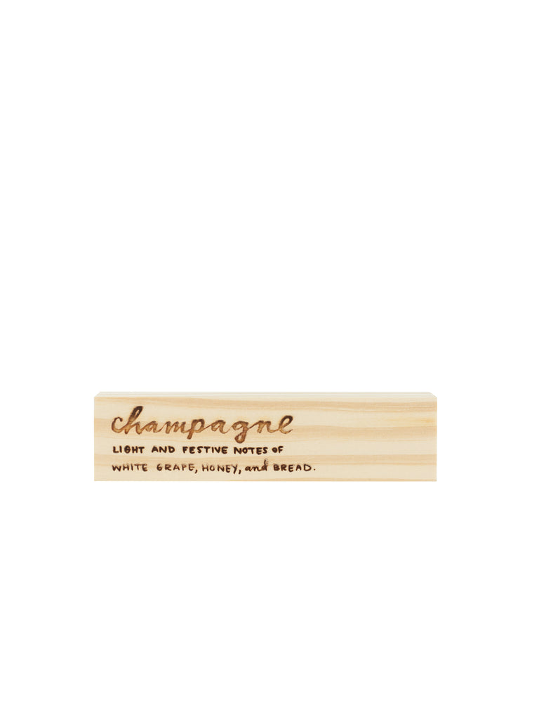 Engraved Champagne Block