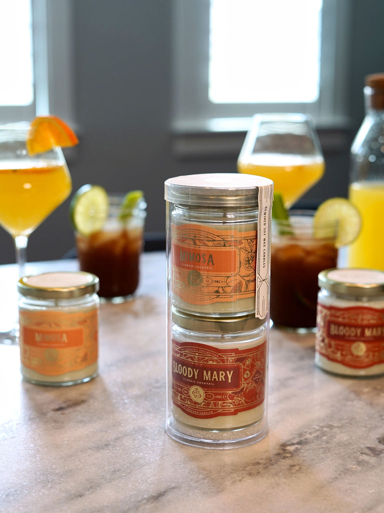 Brunch Gift Set - 7 ounce Bloody Mary and Mimosa candles
